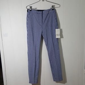NWT Blue & White Checked Pants
